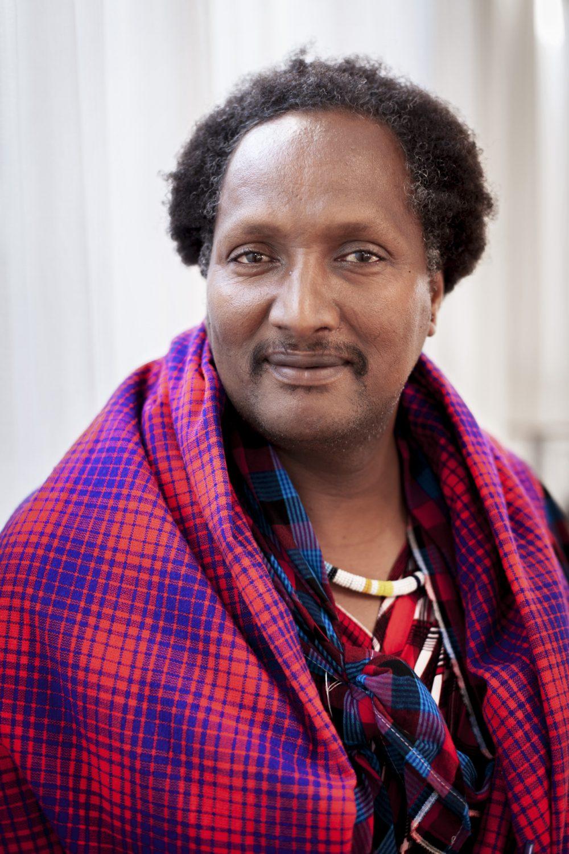 Portræt af masai Adam Mwarabu, ved IWGIAs 50års konference