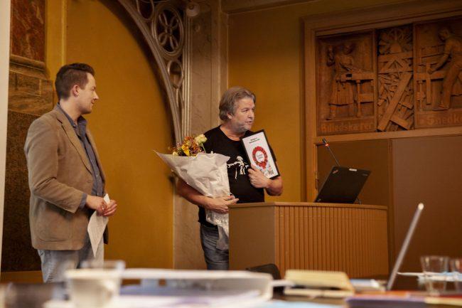 overrækkelse af Simmelprisen, Kreds 1 generalforsamling, Journalistforbundet,