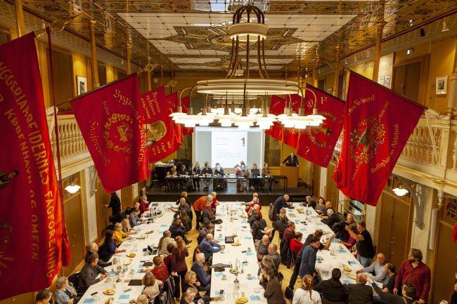 Røde faner på Arbejdermuseet, overblik, Kreds 1 generalforsamling, Journalistforbundet,
