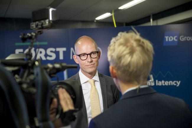 Jens Aaløse og Lars Christian Lilleholt, ved TDC 5G Showcase