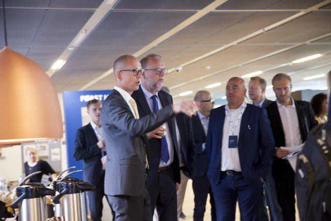 Jens Aaløse og Lars Christian Lilleholt, ved 5G Showcase