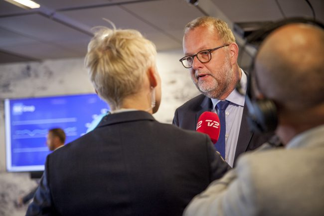 Tv interview med Lars Chr. Lilleholt ved 5G Showcase, TDC Group